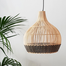 Lampshade - Rattan - Black Detail