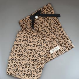 Toddler - Linen Fitted Sheet 60 x 120 cm - Leopard