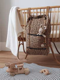 Quilted Storage Bag - Leopard