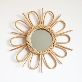 Handmade Rattan Mirror - Medium