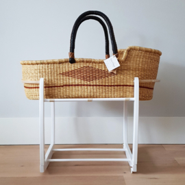 Rocking Moses Basket Stand - White