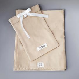 Baby - Linen Flat Sheet 90 x 110 cm - Sand