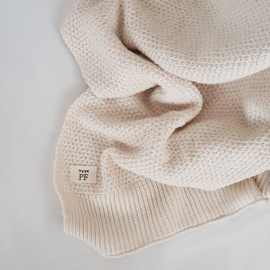 Knitted Blanket - Organic Cotton - Ivory