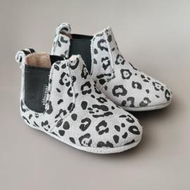 Baby - Chelsea Booties - Light Grey Leopard