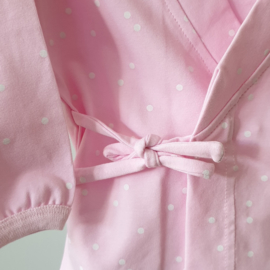 Baby - Lounge Wear Set - Pink & White Dots