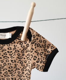 Baby Bodysuit - Short Sleeves - Leopard