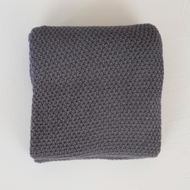 Knitted Blanket - Organic Cotton - Grey
