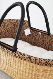 Cotton Moses Basket Liner - Leopard