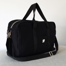 Quilted Mommy Bag - Black
