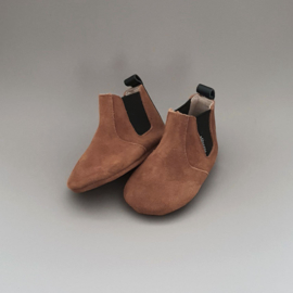 Baby - Chelsea Booties - Chocolat with black detail