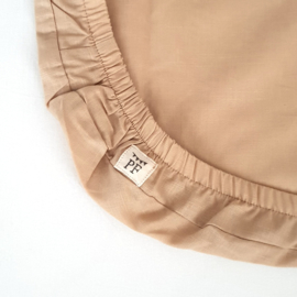 74 x 43 cm - Linen Fitted Sheet to fit our Moses Basket Mattress - Sand