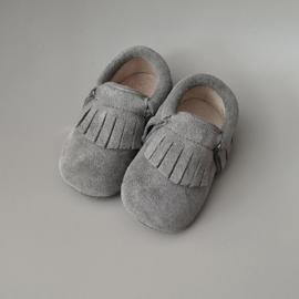 Baby - Suede Moccasins - Grey