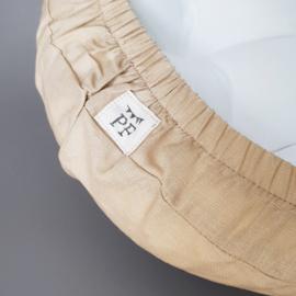 74 x 43 cm - Linnen Wieghoeslaken (maat van onze Moses Basket Matrasjes)  - Sand