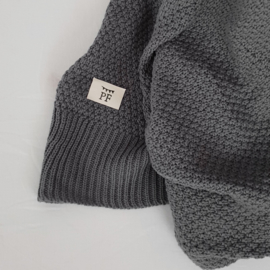 Knitted Blanket - Organic Cotton - Grey RESTOCK FROM WEEK 35