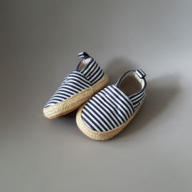 Baby - Leather Espadrilles - Breton Stripes