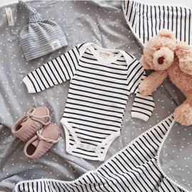 Baby Bodysuit - Long Sleeves - Breton Stripes