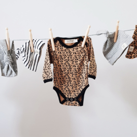 Baby Bodysuit - Long Sleeves - Leopard