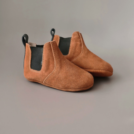 Baby - Chelsea Booties - Caramel with black detail
