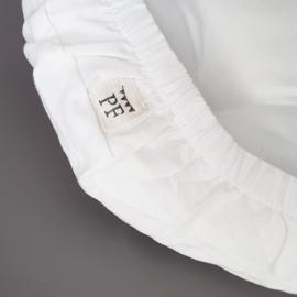 84 x 47 cm - Linnen Wieghoeslaken (maat van onze Rotan Wieg Matrasjes) - White