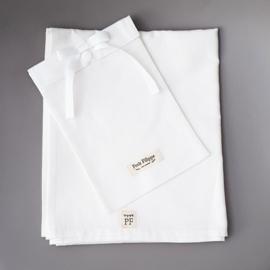 Baby - Linen Flat Sheet 90 x 110 cm - White