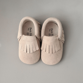 Baby - Suede Moccasins - Oatmeal