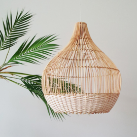 Lampshade - Rattan - White Detail