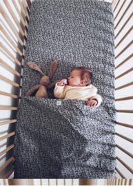 Toddler - Linnen Ledikanthoeslaken 60 x 120 cm  - Grey Leopard