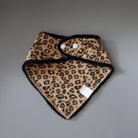 Pom Pom Bandana Bib - Leopard