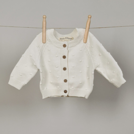 Dotted Cardigan - Cotton - Ivory