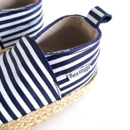 Baby - Leather Espadrilles - Breton Stripes
