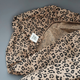 Toddler - Linen Fitted Sheet 60 x 120 cm - Leopard