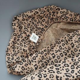 Toddler - Linnen Ledikanthoeslaken 60 x 120 cm  - Leopard