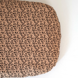 74 x 43 cm - Linen Fitted Sheet to fit our Moses Basket Mattress - Leopard