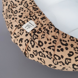 Baby - Linnen Wieghoeslaken 74 x 43 cm - maat van onze Moses Basket Matrasjes - Leopard