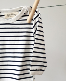 Baby Bodysuit - Long Sleeves - Breton Stripes