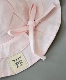 Linen Sun Hat - Soft Pink