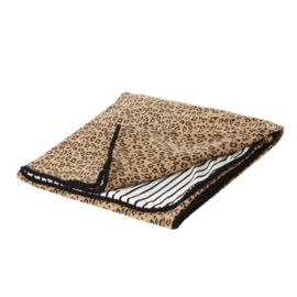 XL Baby Blanket - Leopard & Black Stripes