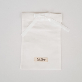 Toddler - Linen Flat Sheet 120 x 150 cm - White