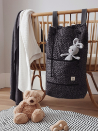 Quilted Storage Bag - Grey Leopard