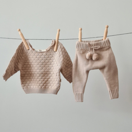 Knitted Pants - Cotton - Oatmeal