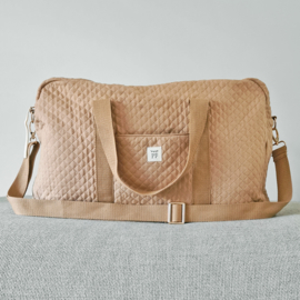 Quilted Mommy Bag - Beige