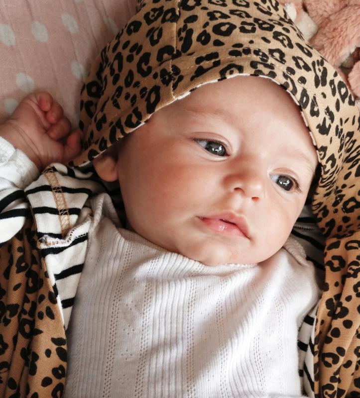 Cozy Hooded Wrap - Leopard & Black Stripes