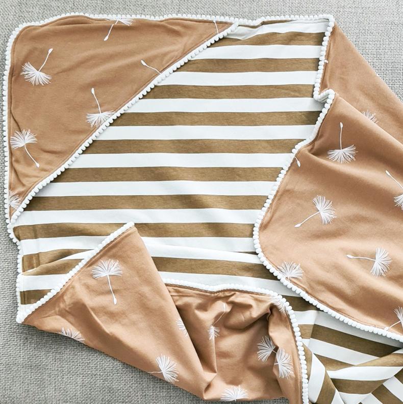 XL Baby Blanket - Dandelion & Stripes