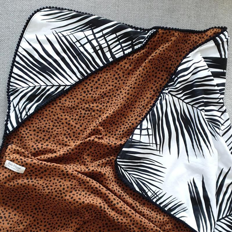 XL Baby Blanket - Palm & Cheetah