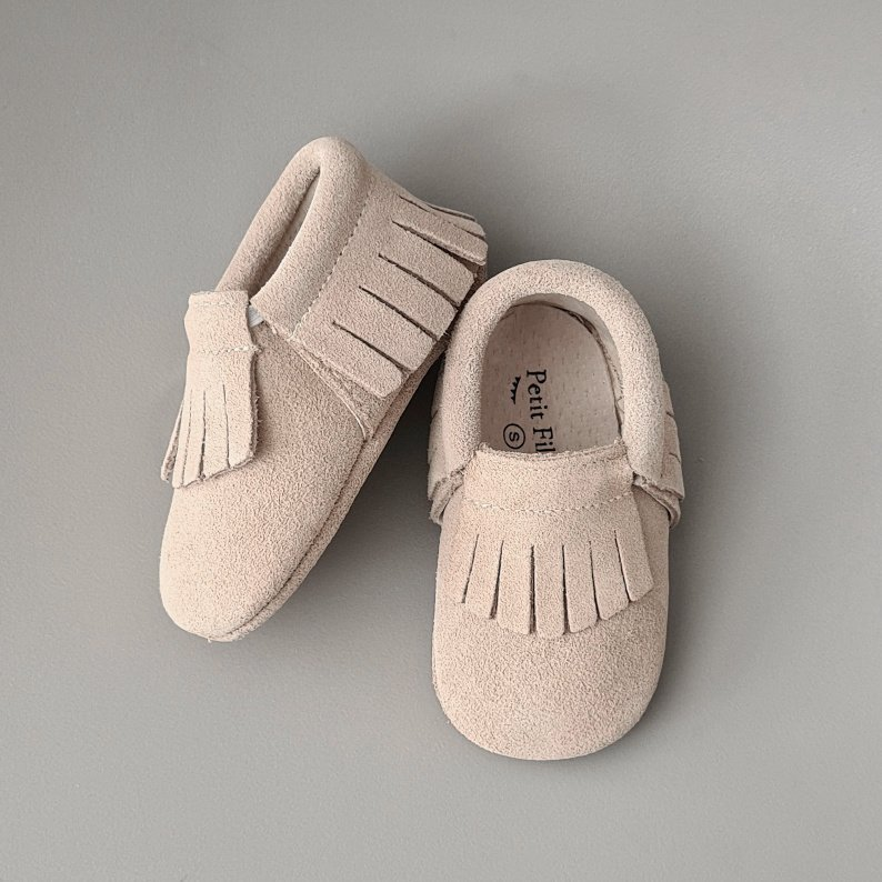 Baby - Leather Moccasins - Oatmeal