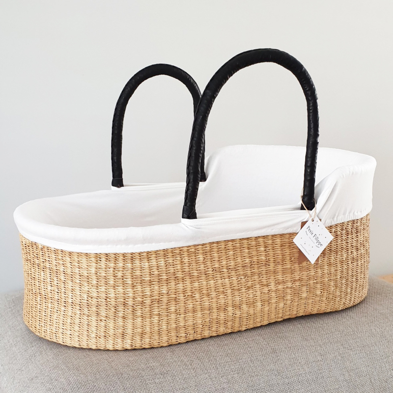 Cotton Moses Basket Liner - Off-White