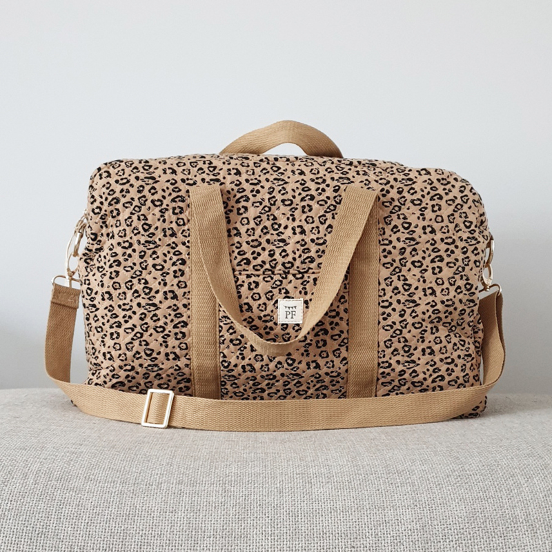 Quilted Mommy Bag - Leopard