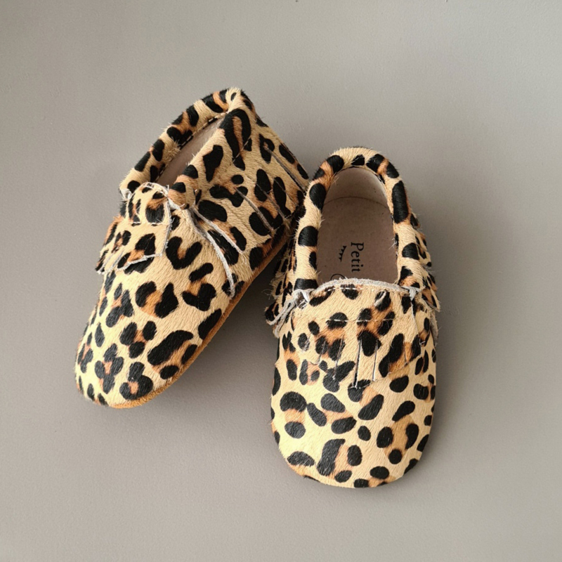 Baby - Pony Hair Moccasins - Leopard is a neutral