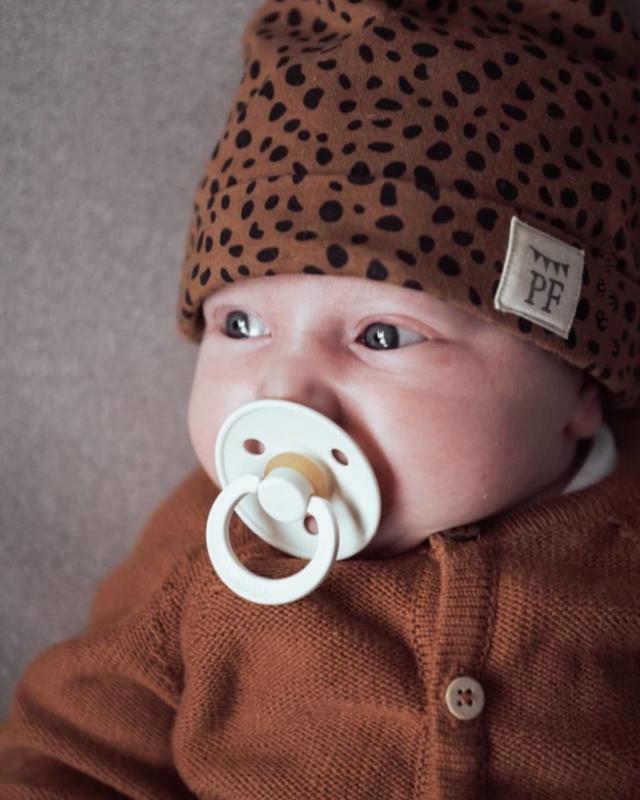 Knot Hat - Brick Cheetah