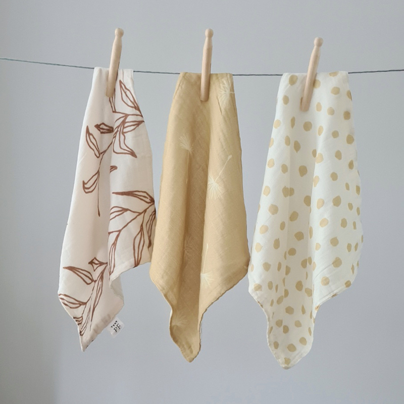 Muslin Burp Cloth - Set of 3